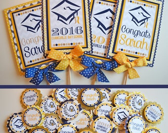 Graduation Party Decorations Fully Assembled | Grad Party | High School Grad Party | College Graduation | Your Colors/Mascot
