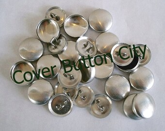 50 Size 24 (5/8 inch) Cover Buttons - Wire Backs
