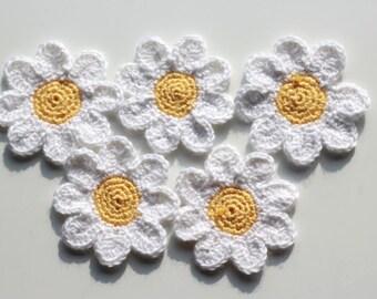 Crochet Daisy Flower Coasters