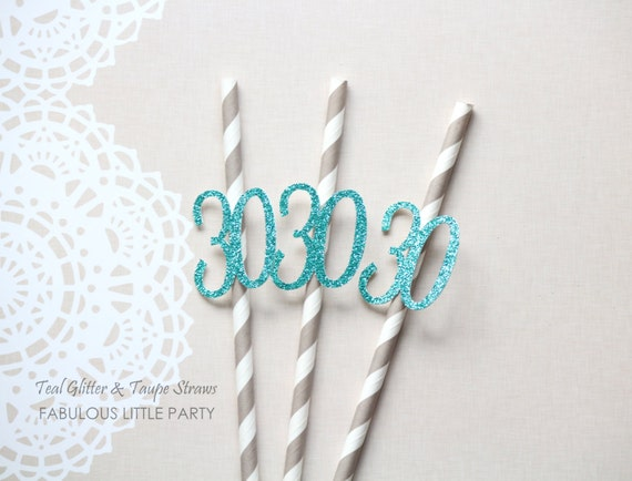 30th Birthday Decorations Party Straws Anniversary Decor 20th 25th