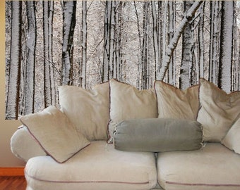 Wall Mural, Winter Forest, 3 feet by 6 feet