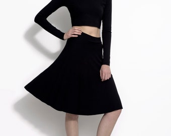A-line stretch bamboo jersey skirt - the Norma