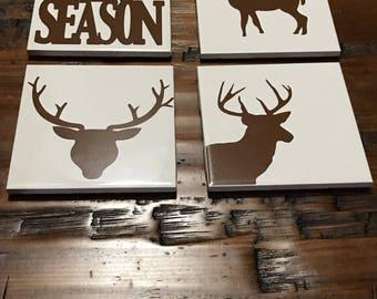 Deer season coaster set
