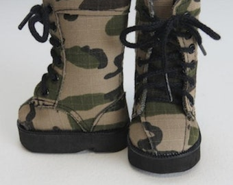 American Doll Accessories-Doll Boots-Made For AMERICAN GIRL DOLLS, Camouflage Boots, Fits American Girl dolls