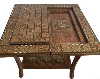 Vintage Side Table, Poker table, Game Table, cards table