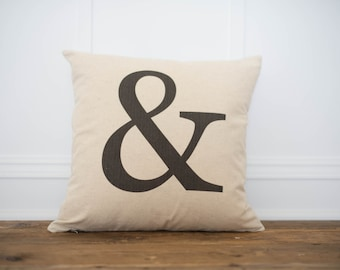 """Ampersand pillow cover - """"&"""" Pillow Cover"""