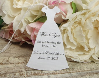 Personalized Bridal Shower favor tags, Custom Bachelorette party tags, bridal shower gift tag, Personalized bridal shower thank you tag