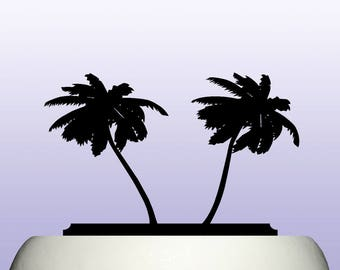 Acrylic Palm Tree Tropical Cake Topper Decoration