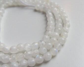 3mm Round Rainbow Moonstone Gemstone Beads - One Full Strand