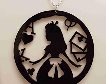 Alice Circle Fairytale Necklace - Acrylic