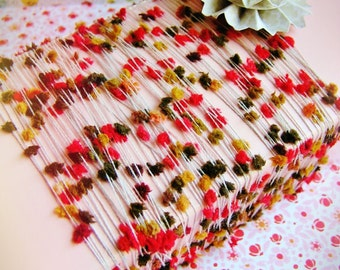 Cherry and Thyme petite Pom Pom Ribbon Garland / Trim - luxe novelty party wedding embellishment holiday craft decor supply - 15 yards