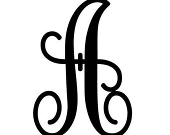 Single Initial Decal for Cars, Yeti's, Laptops and much more!! Monogram Script - Any Font - 1 Letter Decal - Inital