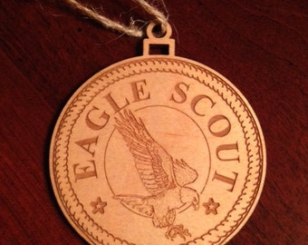 Ornament-Scout Eagle - Laser Engraved