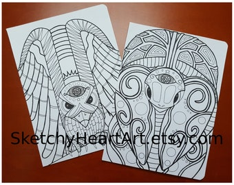 Coloring Pages Totem Animals : Hawk totem etsy