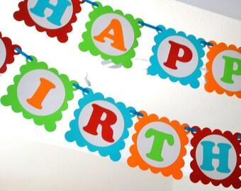 Coloré Mickey anniversaire bannière, soirée à thème arc en ciel Mickey bannière prêt pour votre fête A389