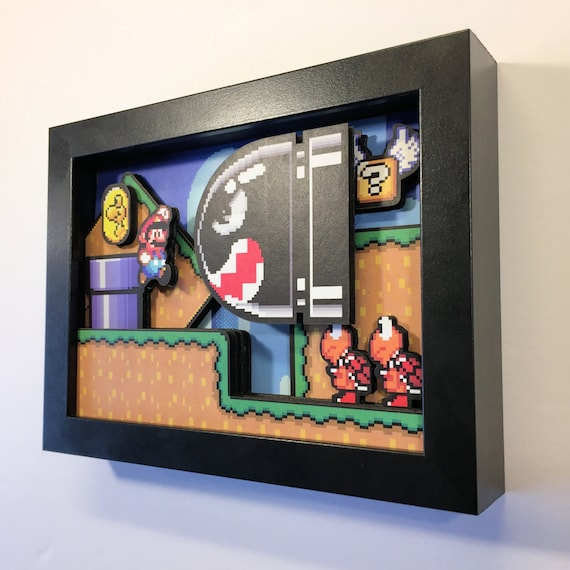 "Super Mario World Shadow Box 5""x7"""