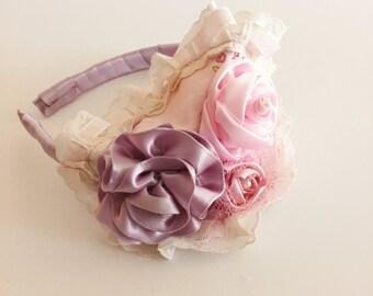 Rose Flower Headband