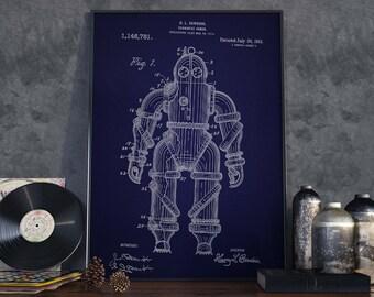 Dive Suits| Vintage Scuba| Wetsuits| Scuba Diver Gift| Scuba Diver| Scuba| Diving Print| Scuba Art| Scuba Poster| Scuba Wall Art| HPH317