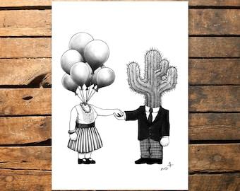 Soul Mates - Original artprint