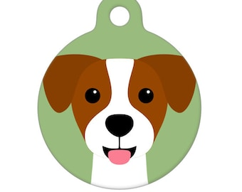 Pet ID Tag - Jack Russell Terrier Pet Tag, Dog Tag