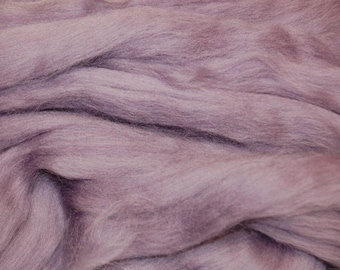 Heather merino wool roving/tops - 50g. Great for wet felting / needle felting, and hand spinning projects.