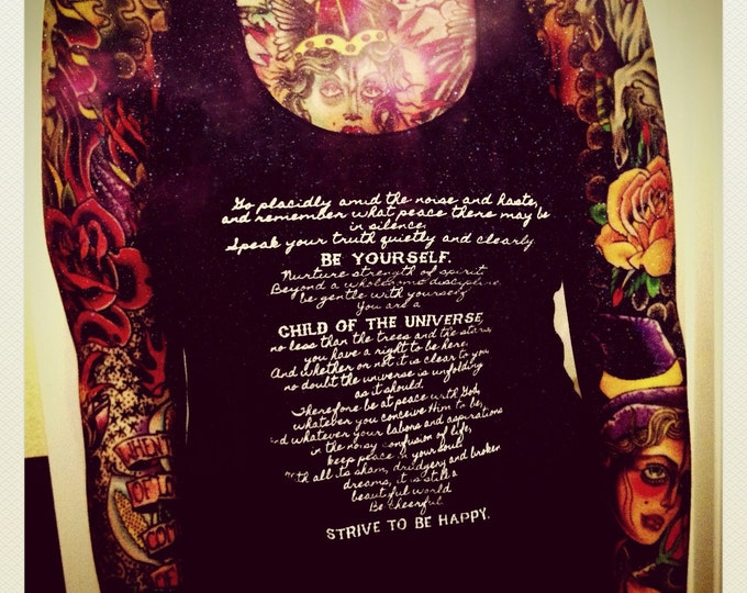 Strive to Be HAPPY Desiderata Racerback Tank Top