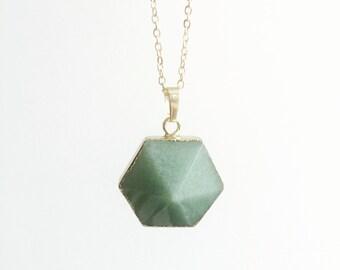 Quartz Necklace, Boho Gemstone, Layering