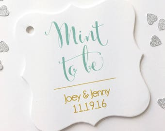 Mint To Be, Wedding Favor Tags, Wedding Tags, Wedding Hang Tags (FS-167)