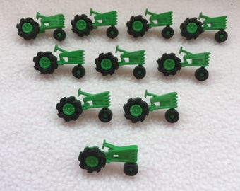 GREEN TRACTOR ~ Loose Dress It Up Buttons ~ 15mm x 27mm