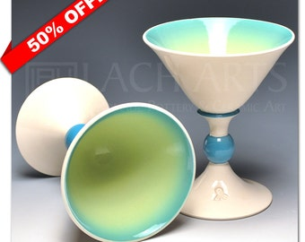 "50% OFF - ""Spring Sky"" Martini Chalices"