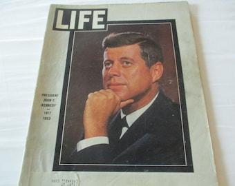 Vintage Life Magazine Life of President Kennedy Mint