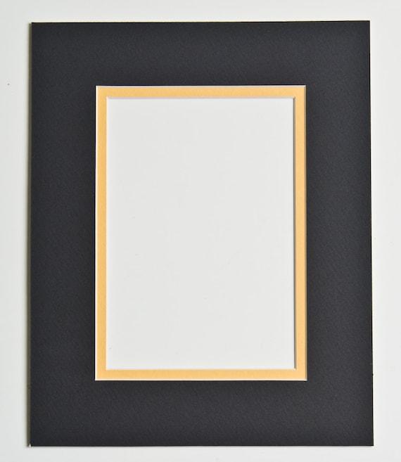 lámina perimétrica de doble 5 x 7 negro y amarillo para el