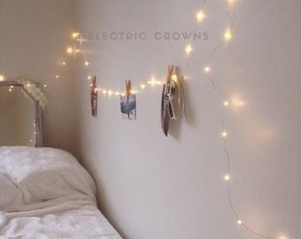 Night Light, Fairy Lights Bedroom, Home Decor, Living Room Wall Decor, Wall String Lights, Bedroom Lighting, Battery Operated Lights & Plug