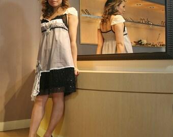 upcycled dress XS - S upcycled clothing, sustainable fashion, dress . paper bag princess
