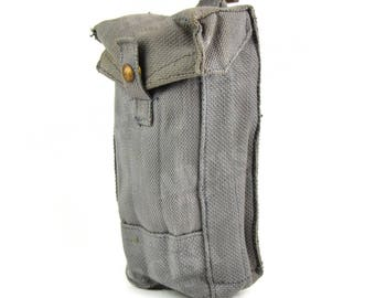 WWII Original British army canvas MKIII magazine pouch ammo bag case