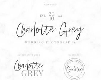 Premade Logo Design - Simply Typography Cursive - Photography Logo - Wedding Photographer - Calligraphy - Watermark - Branding