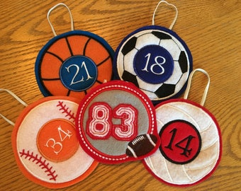 Embroidered Sports Bag Tag