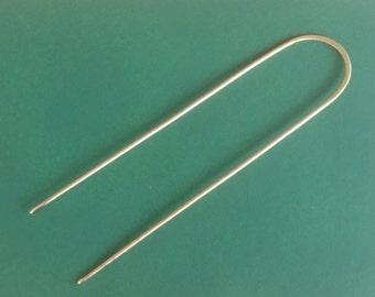 Brass Hair Fork, Minimalist Hair Fork, Hair Pick, Metal Hair Stick, Brass Hair Pin
