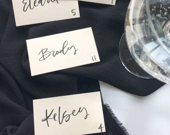 Blush Place cards on textured cardstock