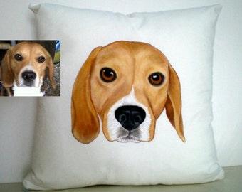 Pet Pillow, Home Decor, Pet Portrait Pillow, Custom Pet Pillow, Dog Pillow, Cat Pillow, Pet Cushion, Dog Cushion, Pet Owner Gift, Dog Gift