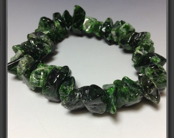 Bracelet with Chrome Diopside