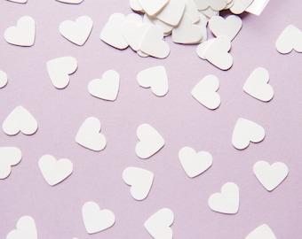 White Heart Confetti. 300 White Hearts - Valentine Day - Wedding decoration - Wedding Table Scatter - Wedding Confetti - Cottage chic decor