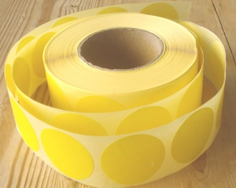 "Round stickers, yellow, 3 cm/1.18"" (M), set of 25, envelop sticker, sticker dot, yellow sticker, envelop seal, gift sticker, snail mail"