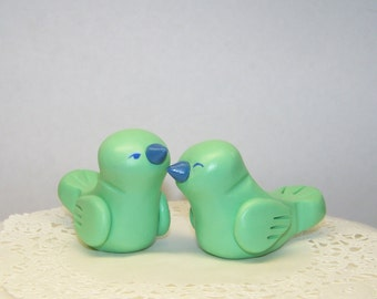 Bird Wedding Cake Topper - Custom Love Birds - Choice of Colors