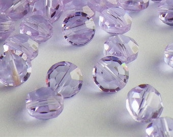 20 Vintage Swarovski Crystal Beads, Alexandrite Article 335 Also Known As 5100, 6mm Crystal Beads