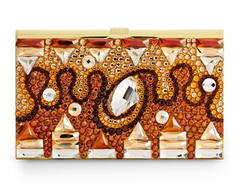 Mingle Business Card Case Encrusted With Swarovski Crystals