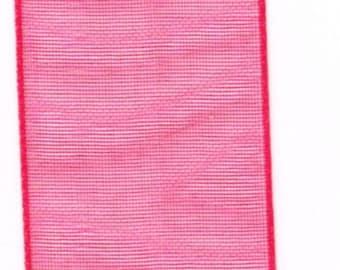 light and translucent red chiffon Ribbon