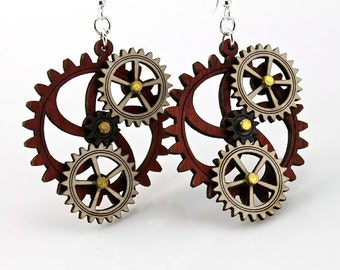 Kinetic Gear Earrings - Hugo #5005A