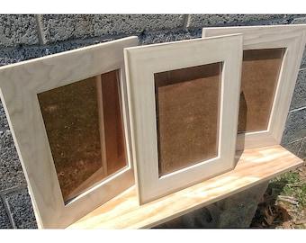 9x12 Frames, Hardware and Glass, Wood for Frames, Blank Wood Crafts, Unfinished Wood Frames, Wood Crafts Supplies, DIY Wood Frames