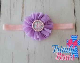 I am so loved Headband - Christian Headband - Purple Headband - Girl Headband